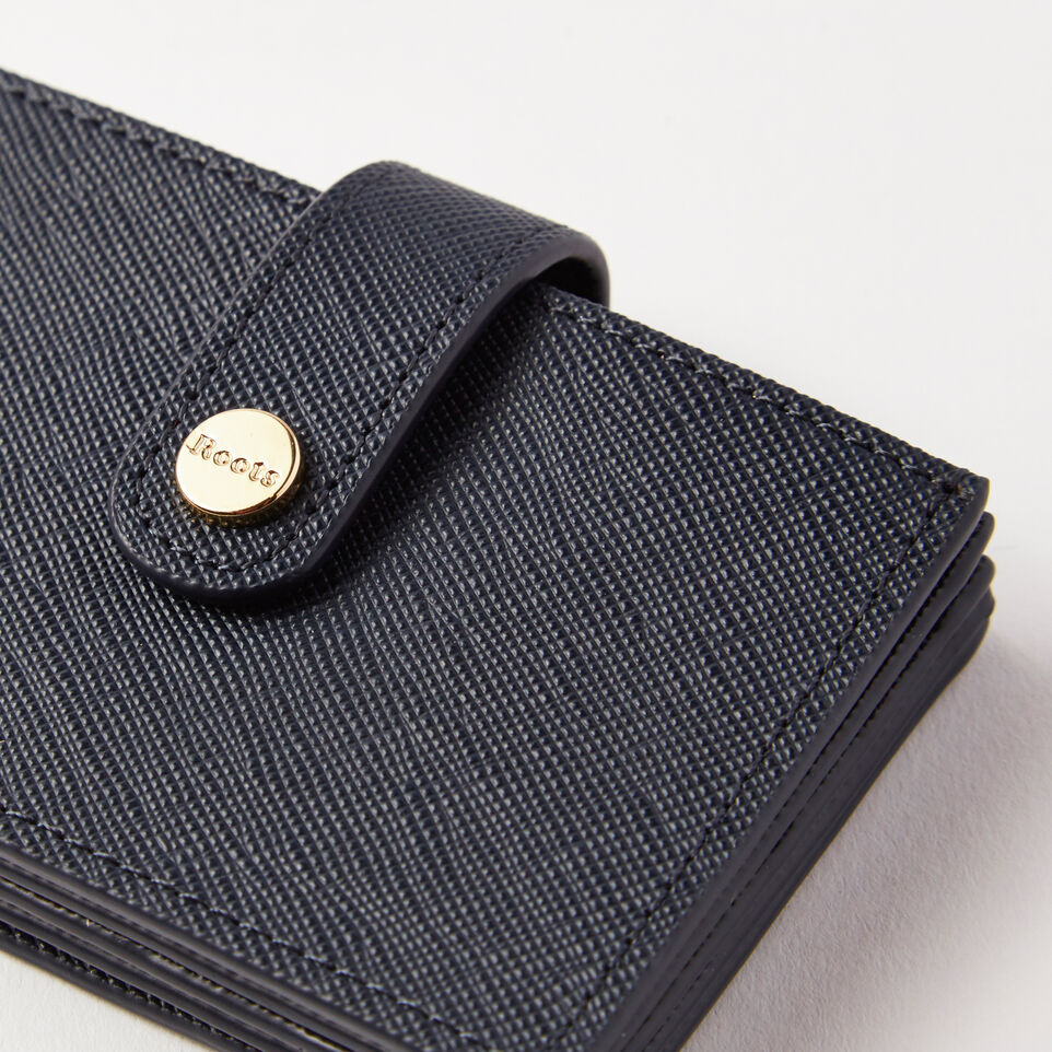 Roots-undefined-Multi Card Holder Saffiano-undefined-E