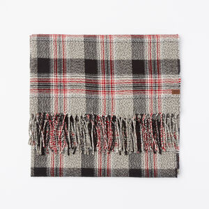 Roots-Women Scarves & Wraps-Ryleigh Plaid Scarf-Salt & Pepper-A