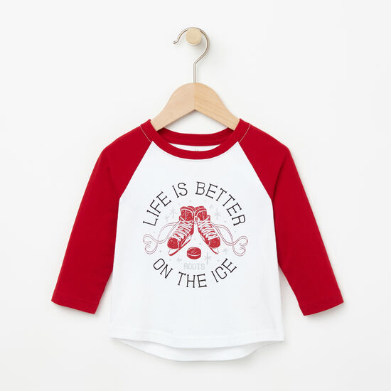Roots-Kids New Arrivals-Baby Raglan Top-Lodge Red-A