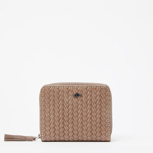 Roots-Leather New Arrivals-Small Tassel Wallet Tribe-Fawn-A