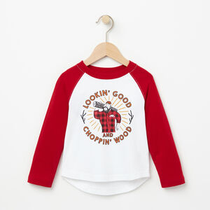 Roots-Kids Toddler Boys-Toddler Plaid Baseball Top-White-A