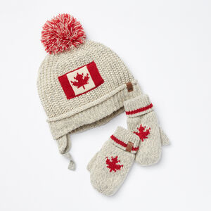 Roots-Kids Accessories-Toddler Canadiana Gift Set-Fog-A