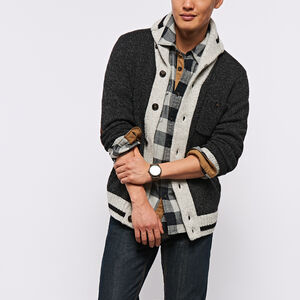 Roots-Men The Roots Cabin Collection™-Roots Cabin Cardigan-Black Mix-A