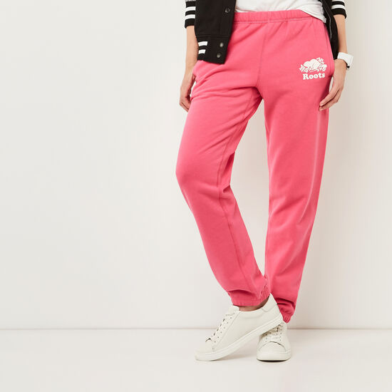 Roots-Women Original Sweatpants-Original Sweatpant-Pink Flambé-A