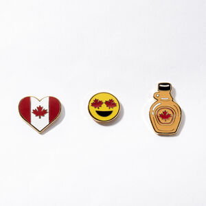 Roots-Men Roots Home-Canada Heart Pin Set 3 Pack-Assorted-A