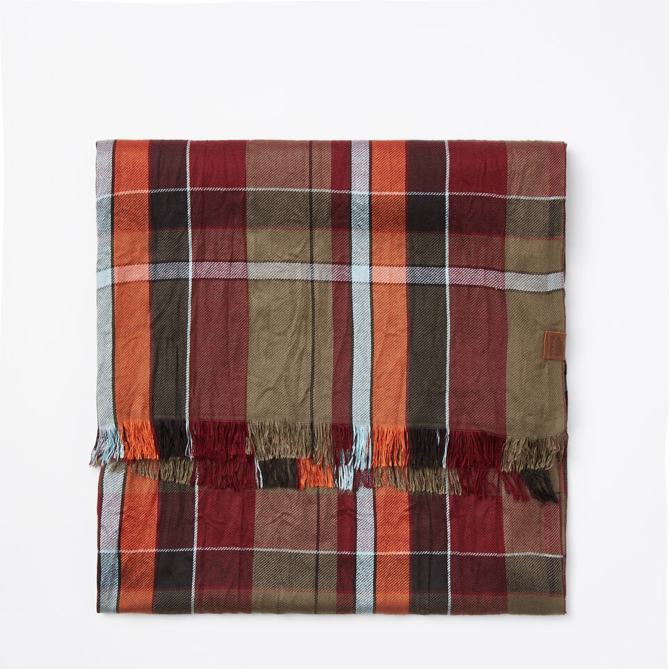 Roots-undefined-Écharpe Tartan Cabane-undefined-A