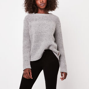Roots-Sale Women's-Emery Pullover Sweater-Silver Cloud Mix-A