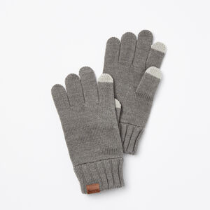 Roots-Gifts Bundle Up Accessories-Mens Touch Screen Glove-Medium Grey Mix-A