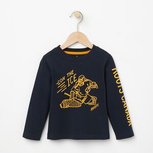 Roots-Kids Toddler Boys-Toddler On The Ice T-shirt-Navy Blazer-A
