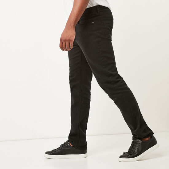 Roots-Men New Arrivals-New Albany 5 Pocket Pant-Black-A