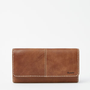 Roots-Leather Women's Wallets-Large Chequebook Clutch Tribe-Africa-A