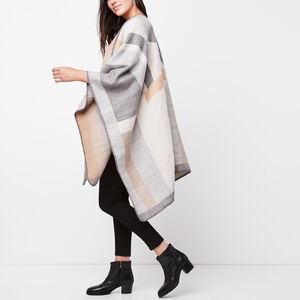 Roots-Women Accessories-Sonia Wrap-Grey Mix-A
