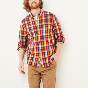 Roots-Sale Men-Riverside Plaid Shirt-Cascade Blue-A