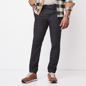Roots-Men Pants-Ferguson Jogger-Black Mix-A