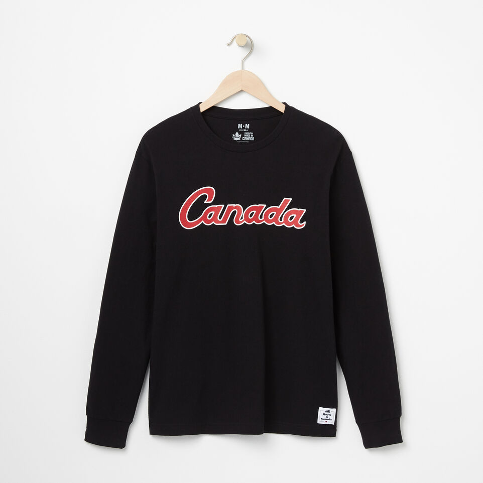 Roots-undefined-Canada Script Long Sleeve T-shirt-undefined-A