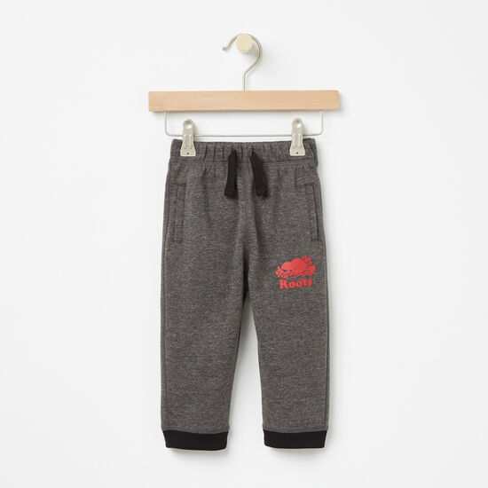 Roots-Kids New Arrivals-Baby Slater Pull On Pant-Charcoal Mix-A