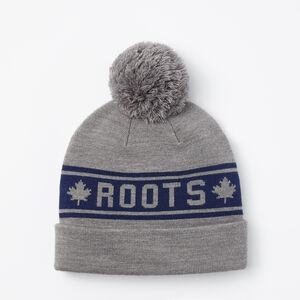 Roots-Men Hats-Heritage Pom Pom Toque-Medium Grey Mix-A
