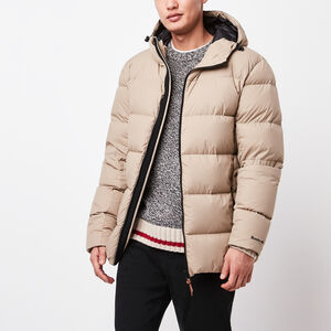 Roots-Men Jackets-Peakside Parka-Dark Khaki-A