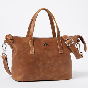 Roots-Leather Tribe Leather-Small Zoe Bag Tribe-Africa-A