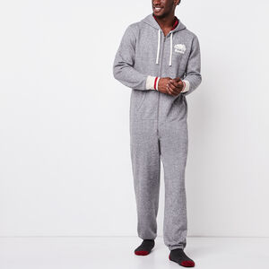 Roots-Men The Roots Cabin Collection™-Mens Roots Cabin Onesie-Salt & Pepper-A