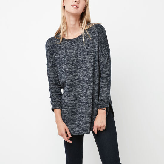 Roots-Women Sweaters & Cardigans-Melissa Top-Navy Blazer Mix-A