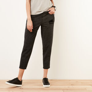 Roots-Women Slim Sweatpants-Mabel Lake Ankle Sweatpant-Black Pepper-A