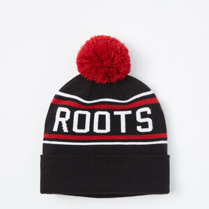 Roots-Women Accessories-Pro Block Pom Pom Toque-Black-A