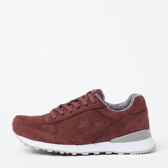 Roots-Shoes Shoes-Womens Trans Canada Jogger Nubuck-Burgundy-A