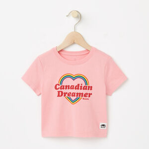 Roots-Kids Canada Collection-Baby Canadian Heart T-shirt-Peony Pink-A