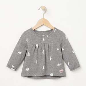 Roots-Kids Tops-Baby Maple Valley Top-Medium Grey Mix-A