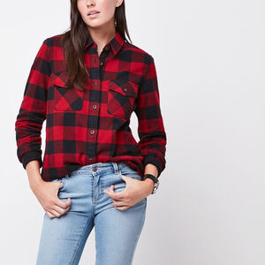 Roots-Women New Arrivals-Algonquin Shirt-Lodge Red-A