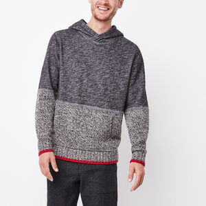 Roots-Men Sweaters & Cardigans-Roots Cabin Hybrid Hoody-Grey Oat Mix-A