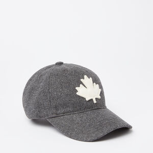 Roots-Men Hats-Melton Leaf Baseball Cap-Charcoal Mix-A