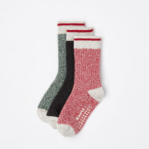 Roots-Kids Baby Girl-Baby & Toddler Cabin Sock 3 Pack-Lodge Red-A