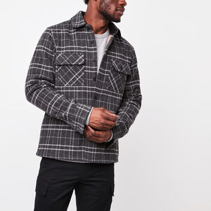 Roots-Sale Summit Sale-New Beaverhill Shacket-Charcoal Mix-A