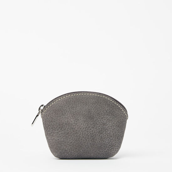 Roots-Leather Leather Pouches-Small Euro Pouch Tribe-Charcoal-A