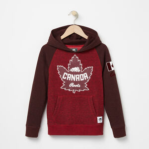 Roots-Kids Boys-Boys Heritage Canada Kanga Hoody-Sage Red Pepper-A