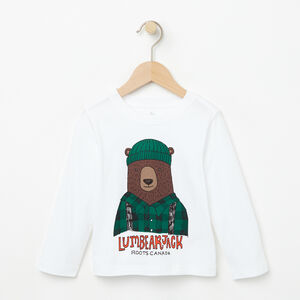 Roots-Sale Toddler-Toddler Harrison Long Sleeve T-shirt-White-A