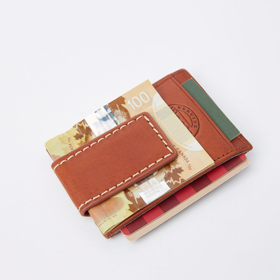 Roots-undefined-Mens Money Clip Card Holder Veg-undefined-B