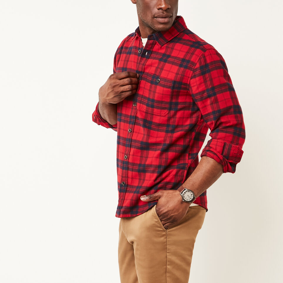 Roots-undefined-Manning Light Weight Flannel Shirt-undefined-A