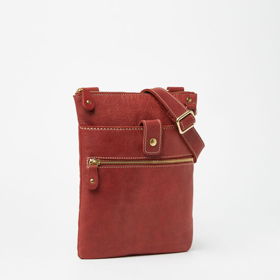 Roots-Leather Crossbody-Small Venetian Tribe-Paprika-A