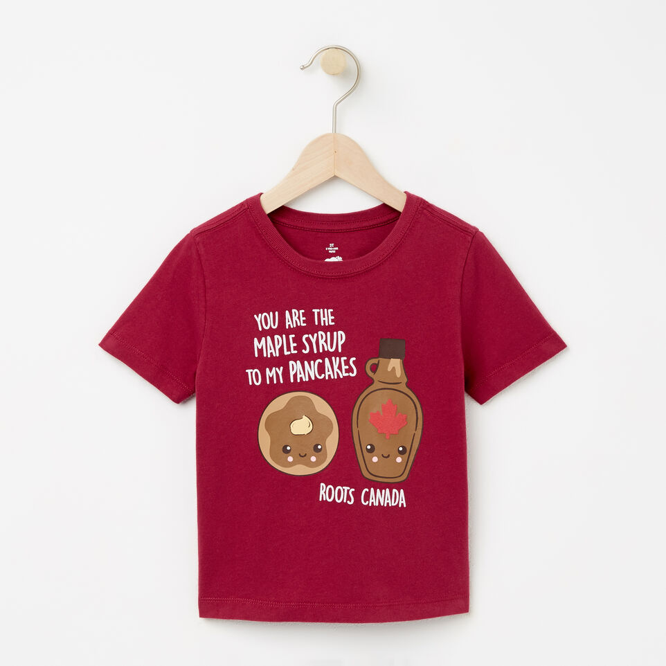 Roots-undefined-Toddler Pancake And Maple Syrup T-shirt-undefined-A