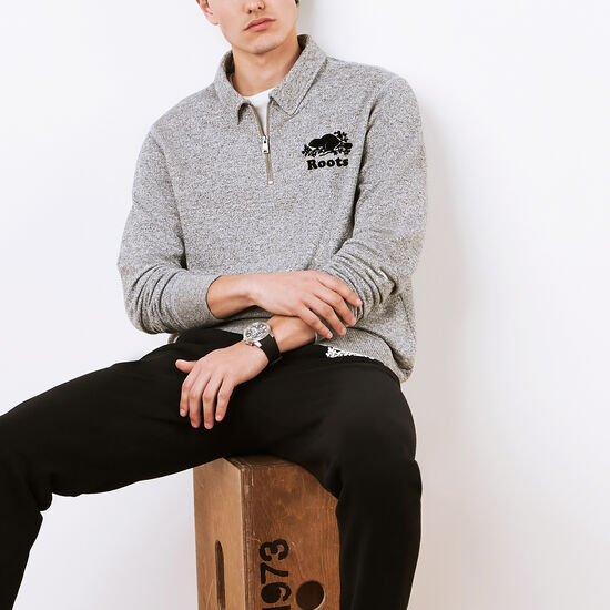 Roots Salt and Pepper Original Zip Polo