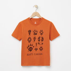 Roots-Enfants Tshirt-Garçons Tshirt Animal Roots-Rouille-A