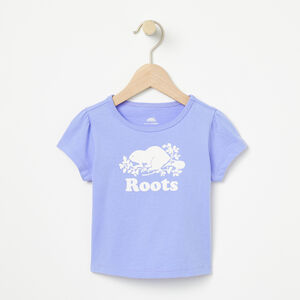 Roots-Kids Baby Girl-Baby Cooper Beaver Puff T-shirt-Pale Iris-A