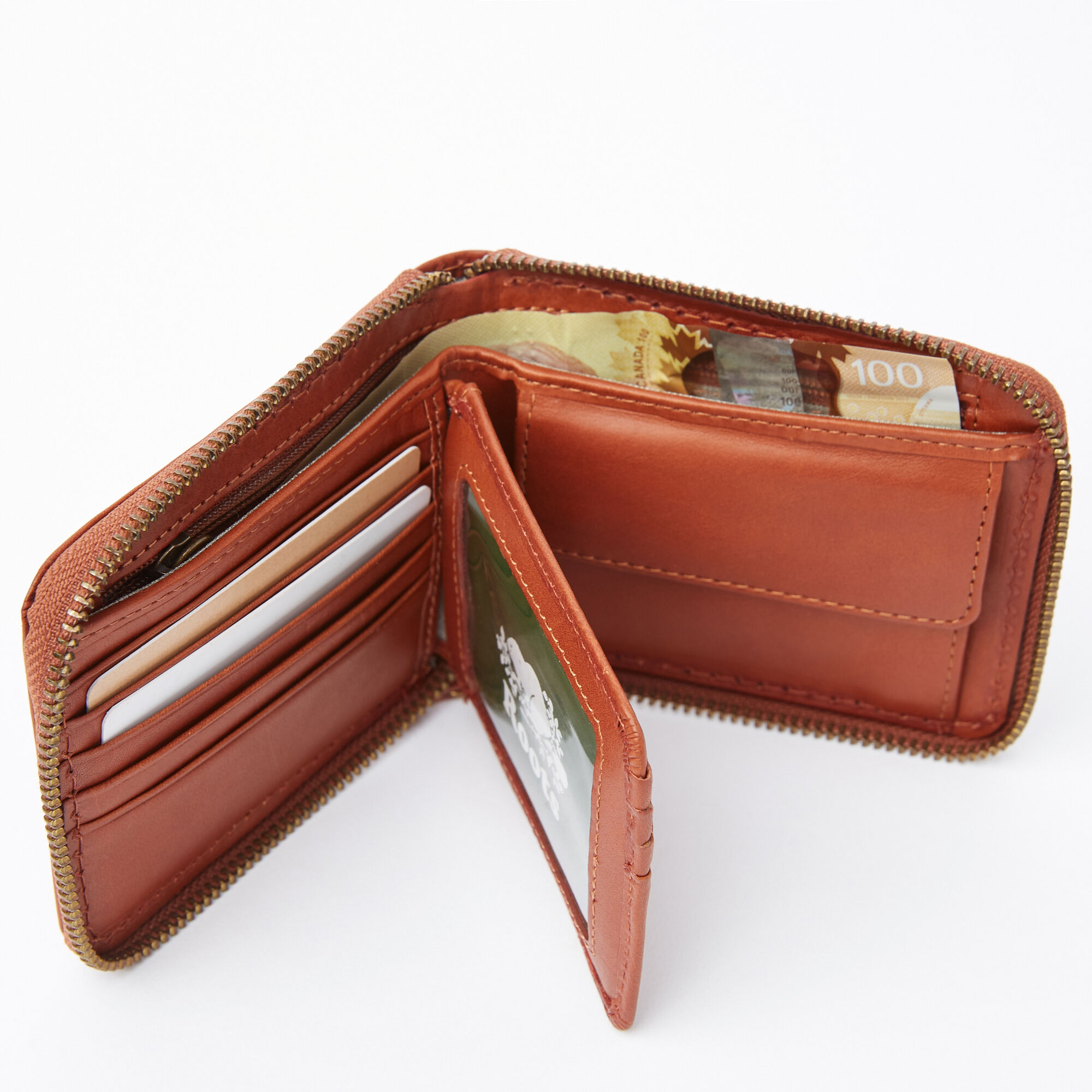 Mens Zip Around Wallet Veg