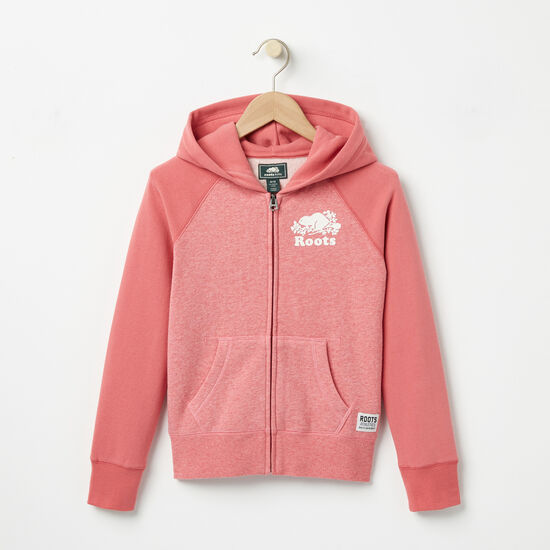 Roots-Kids Girls-Girls Original Full Zip Hoody-Baroque Rose-A