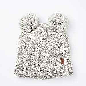 Roots-Women Hats-Polar Fox Pup Toque-White Mix-A