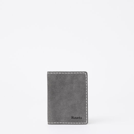 Roots-Women Wallets-Card Case with ID Tribe-Charcoal-A