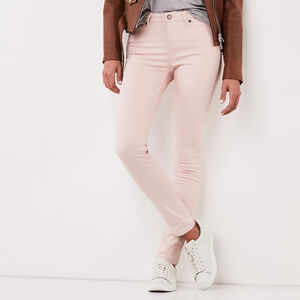 Roots-Women Bottoms-Stretch Riley Coloured Denim-Silver Pink-A